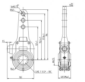 10-spline-span-manual-slack-adjuster-cad