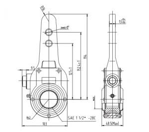 Bendix 288753 Manual Slack Adjuster, 1 5″-28 Spline x 5 5