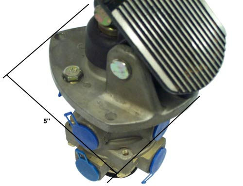 E 6 Brake Valve With Treadle Assy And Mounting Plate