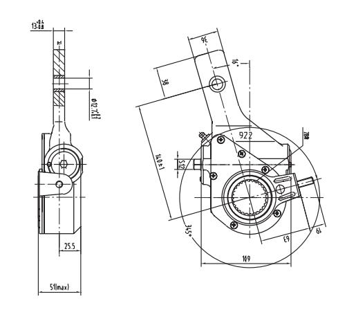automatic-slack-adjuster-10998-cad