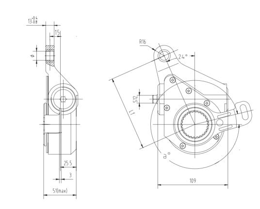 automatic-slack-adjuster-3195-cad