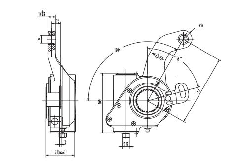 automatic-slack-adjuster-3522-cad