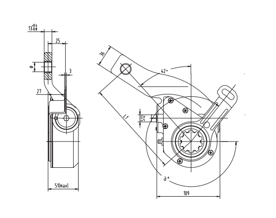 automatic-slack-adjuster-3663-cad