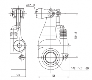 bendix-k041876-automatic-slack-adjuster-cad