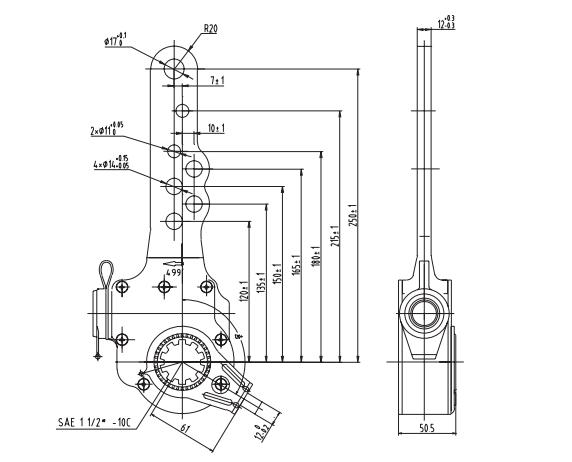 manual-slack-adjuster-10-spline-12-cad