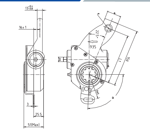 scania-automatic-slack-adjuster-935-cad