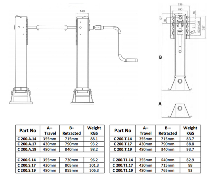 c200-series-telescopic-landing-gear