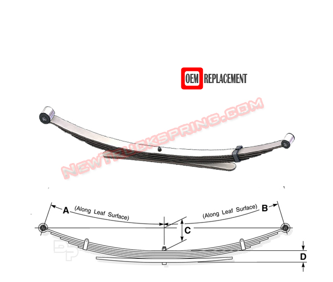 2003 Toyota Tacoma Leaf Springs: Replacement 2004-2011 Ford Ranger
