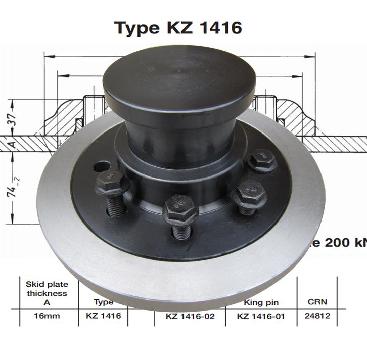 Replacement Jost KZ 1416 King Pins 90mm