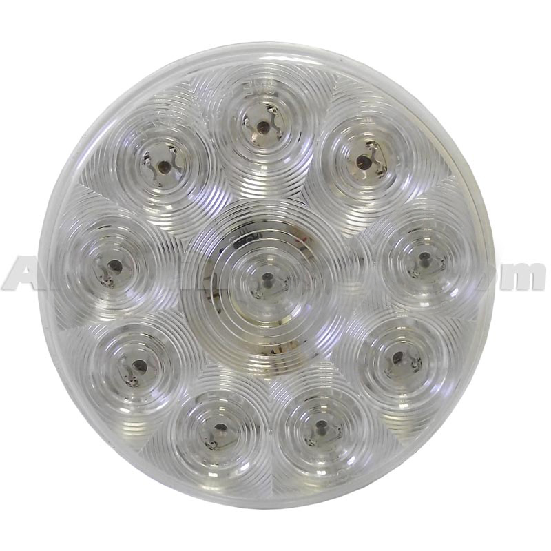 ProLed 7 Inch Round Red Bus Warning Light
