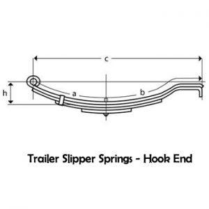 Hook End Slipper Trailer Springs