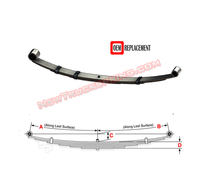Replacement 1984-2001 Jeep Cherokee – Rear Leaf Spring