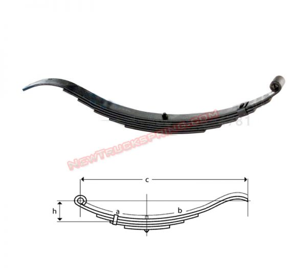 una-029n-radius-end-trailer-leaf-spring