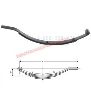 una037-flat-end-trailer-leaf-spring