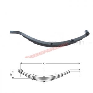 una043-flat-end-trailer-leaf-spring