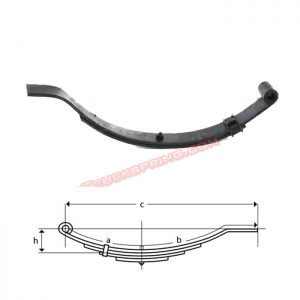 una193-flat-end-trailer-leaf-spring