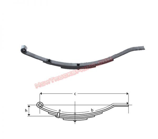 una203-flat-end-trailer-leaf-spring