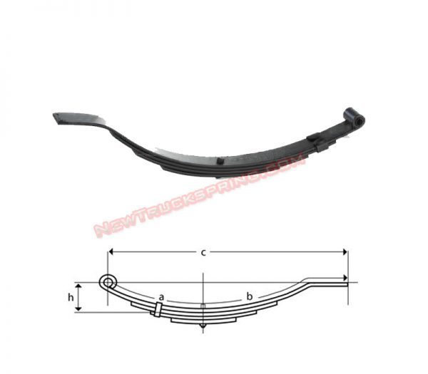 una204-flat-end-trailer-leaf-spring