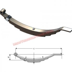 una207-flat-end-trailer-leaf-spring
