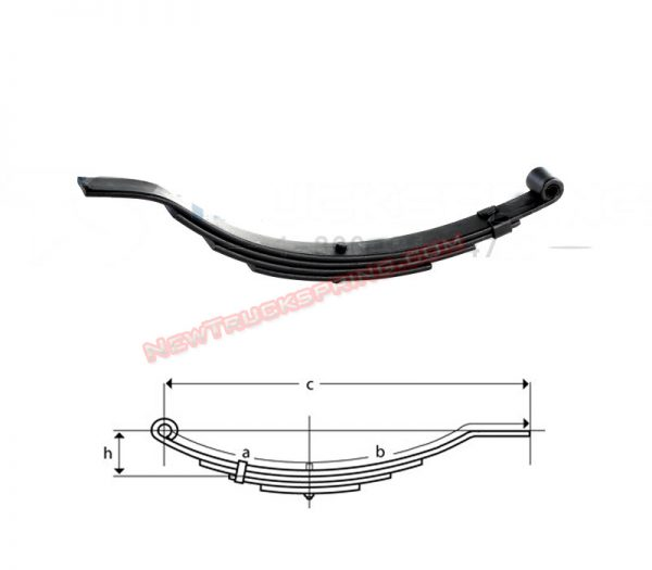 una208-flat-end-trailer-leaf-spring