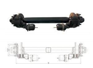 Disc-Brake-Semi-Trailer-Axle
