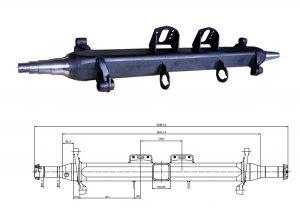 Germa-type-semi-trailer-axle-beam