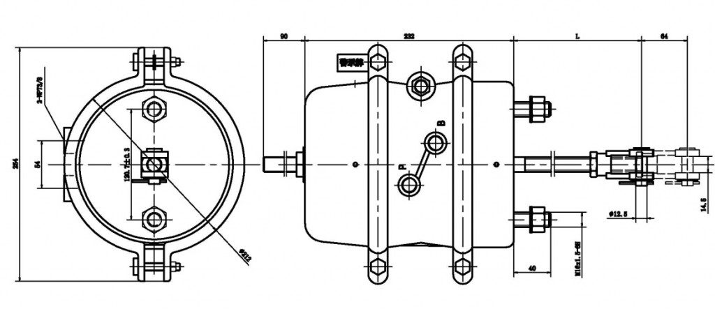 type-3030-brake-chamber-drawing