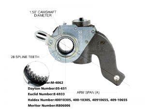 Haldex-40010305-Slack-Adjuster-1.5-Inch