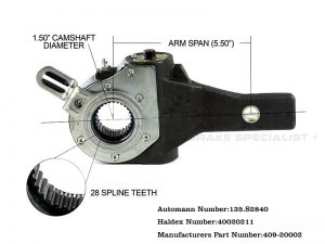 Haldex-Automatic-Slack-Adjuster-1.5-inch-28-spline