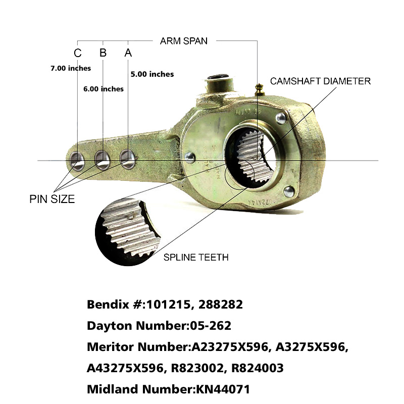 Haldex KN44071 Slack Adjuster 1.5 inch – 28 Spline, 5 and 6 ... on
