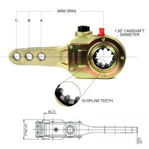 Haldex-KN47001-Slack-Adjuster-1.5-inch-3