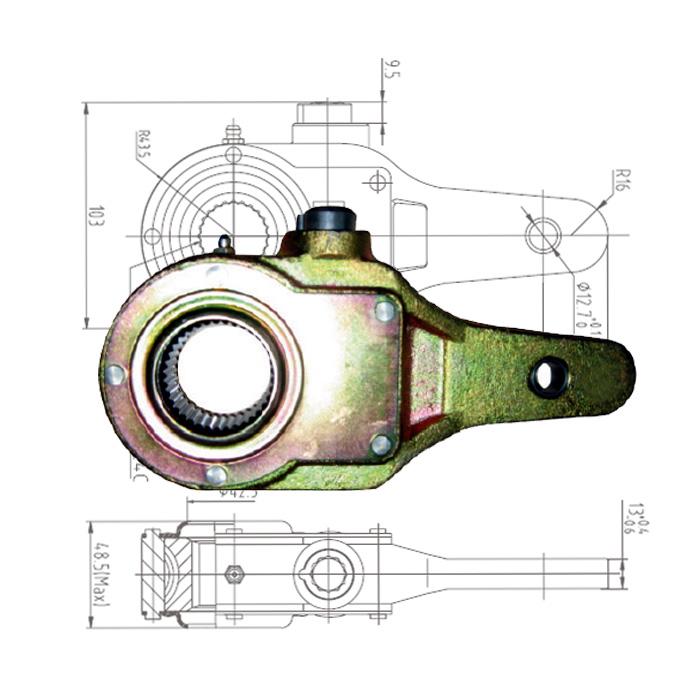 Haldex KN55001 Slack Adjuster 1 25 inch – 24 Spline, 5 5