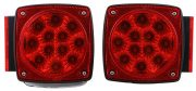Square-LED-Trailer-Tail-Lights-Red-38-Diodes-Submersible